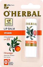 Düfte, Parfümerie und Kosmetik Lippenbalsam mit Orangenöl - O'Herbal Vitamin Lip Balm Wwith Orange Oil SPF15