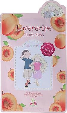 Cellulose-Tuchmaske mit Pfirsichextrakt - Sally's Box Loverecipe Peach Mask — Bild N1