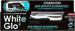Zahnpflegeset - White Glo Charcoal Bad Breath Eliminator (Zahnpasta 100 ml & Zahnbürste 1 St.) — Bild N2