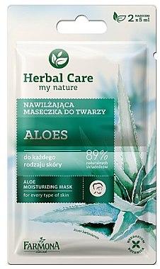 Feuchtigkeitsspendende Gesichtsmaske mit Aloe für alle Hauttypen - Farmona Herbal Care — Bild N1