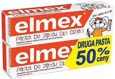 Kinderzahnpasta mit Aminfluorid 0-6 Jahre 2 St. - Elmex (2x50ml)