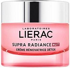 Düfte, Parfümerie und Kosmetik Hauterneuernde Gesichtscreme Detox für die Nacht - Lierac Supra Radiance Creme Renovatrice Detox Nuit