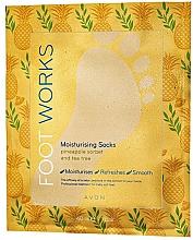 Düfte, Parfümerie und Kosmetik Feuchtigkeitsspendende Fußmaske mit Ananassorbet und Teebaum - Avon Foot Works Mask For Legs