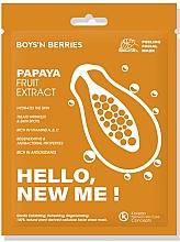 Düfte, Parfümerie und Kosmetik Feuchtigkeitsspendende Anti-Falten Tuchmaske mit Papaya-Extrakt - Boys`n Berries Hello, New Me! Papaya Mask