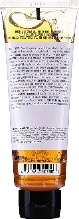Haarstylinggel für mehr Glanz und Volumen Starker Halt - Baxter of California Thickening Style Gel — Bild N2