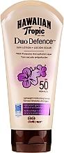 Düfte, Parfümerie und Kosmetik Sonnenschutzlotion mit Grüntee-Extrakt und Antioxidantien SPF 50 - Hawaiian Tropic Duo Defence Sun Lotion SPF50