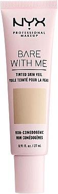 Flüssige Foundation mit Active Light-Technologie und SPF 10 - NYX Professional Bare With Me Tinted Skin Veil — Bild N1