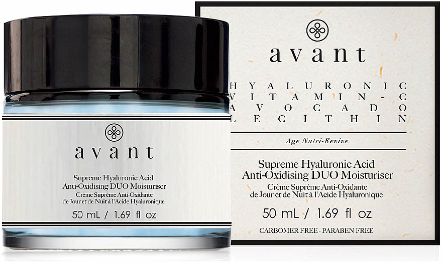 Antioxidative und feuchtigkeitsspendende Gesichtscreme mit Hyaluronsäure - Avant Skincare Supreme Hyaluronic Acid Anti-Oxidising Duo Moisturiser — Bild N1