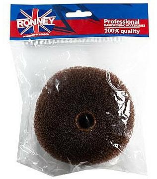 Professioneller Haar-Donut 11x4.5 cm braun - Ronney Professional Hair Bun 050 — Bild N1