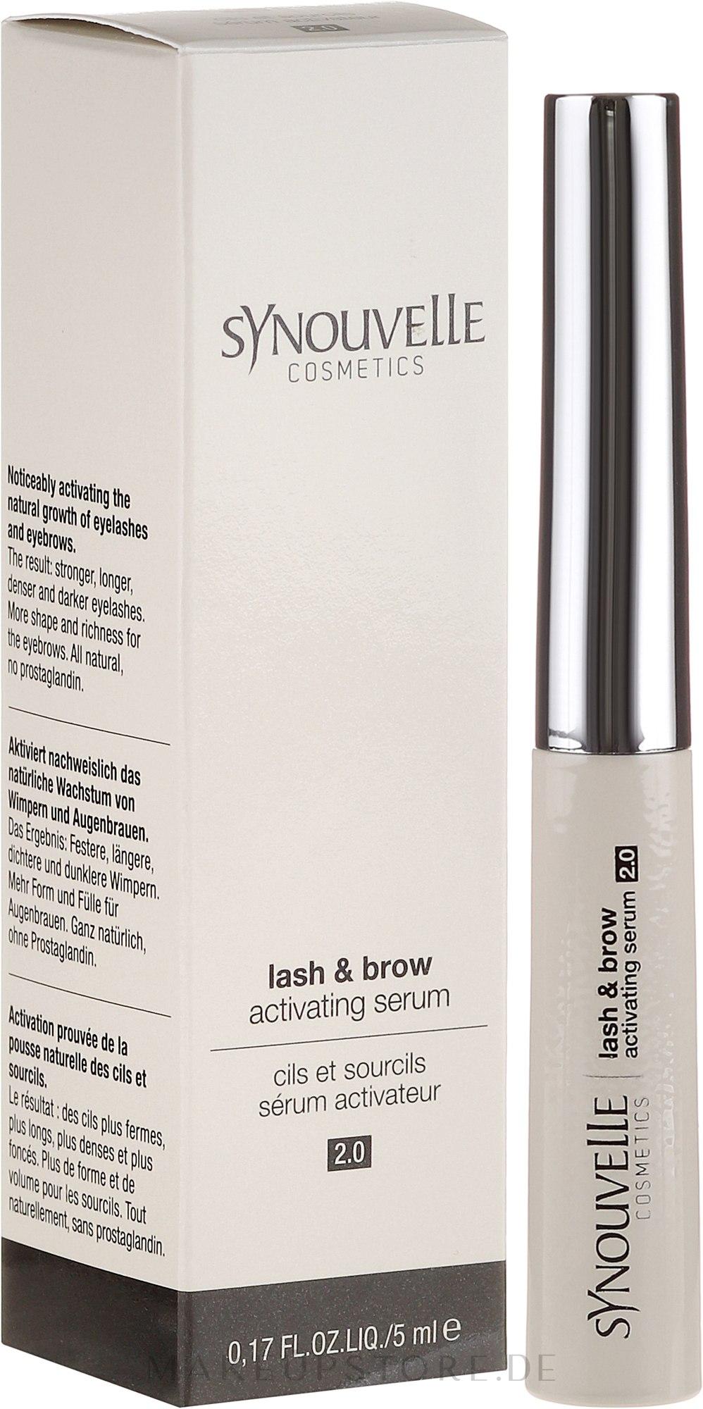 Wachstumsserum für Wimpern und Augenbrauen - Synouvelle Cosmectics Lash & Brow Activating Serum 2.0 — Bild 5 ml