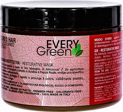 Erholungsmaske für coloriertes Haar - Dikson Every Green Colored Hair Restorative Mask — Bild N1