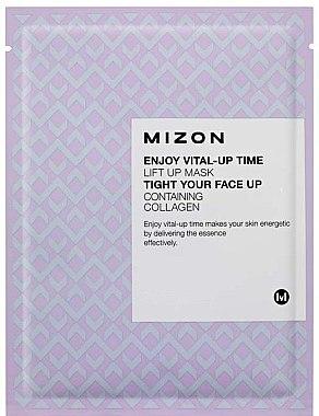 Glättende Tuchmaske mit Lifting-Effekt - Mizon Enjoy Vital-Up Time Lift Up Mask — Bild N1
