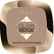 Düfte, Parfümerie und Kosmetik Gesichtspuder - L'Oreal Paris Glam Beige Healthy Glow Powder