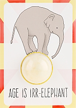 Düfte, Parfümerie und Kosmetik 2in1 Grußkarte & Badebombe Rhubarb & Custard - Bomb Cosmetics Blaster Card Age is Irr-Elephant