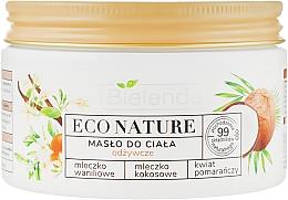 Düfte, Parfümerie und Kosmetik Pflegende Körperbutter mit Vanilleextrakt und Kokosöl - Bielenda Eco Nature Body Butter Vanilla Coconut Milk Orange Blossom