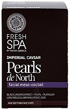 Düfte, Parfümerie und Kosmetik Meso-Gesichtscocktail mit Extrakt aus schwarzem Kaviar - Natura Siberica Fresh Spa Imperial Caviar Pearls De North