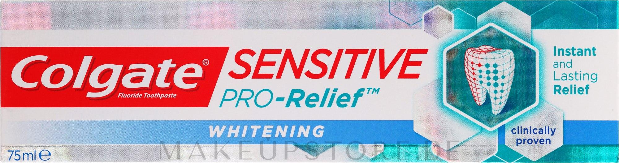 Aufhellende Zahnpasta Sensitive Pro-Relief - Colgate Snsitive Pro-Relief Whitening Toothpaste — Bild 75 ml