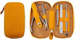 "Düfte, Parfümerie und Kosmetik Maniküre-Set ""Basic Eco"" MS-01E senfgelb 5-tlg. - Staleks Manicure Set"