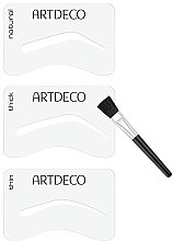 Augenbrauenschablonen mit Pinsel-Aplikator - Artdeco Eyebrow Stencials with Brush — Bild N3