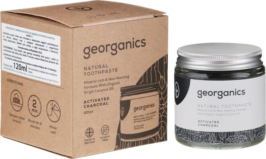 Natürliche und mineralstoffreiche Zahnpasta mit Aktivkohle - Georganics Activated Charcoal Natural Toothpaste — Bild N3