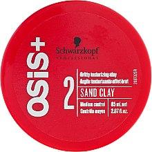 Düfte, Parfümerie und Kosmetik Formbare Stylingpaste mit Kaolinerde - Schwarzkopf Professional Osis+ Texture Sand Clay