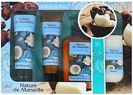 Düfte, Parfümerie und Kosmetik Körperpflegeset - Nature de Marseille Cocos (Duschgel 100ml + Körpercreme 60ml + Körperbalsam 150ml + Seife 90g)