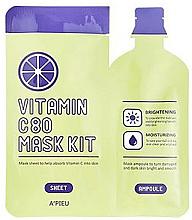 Düfte, Parfümerie und Kosmetik Feuchtigkeitsspendende Gesichtsmaske mit Vitamin C - A'pieu Vitamin C80 Mask Kit