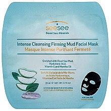 Düfte, Parfümerie und Kosmetik Straffende Detox-Tuchmaske für das Gesicht mit Minzöl und Vitamin E - SeeSee Intense Cleansing Firming Mud Facial Mask