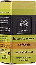 Düfte, Parfümerie und Kosmetik Erfrischende Ölmischung aus Bergamotte, Zitrone und Grapefruit - Apivita Aromatherapy Essential Oil Refresh
