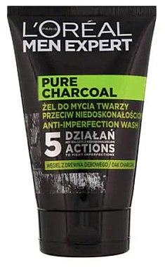 Gesichtswaschgel mit Aktivkohle für Männer - L'Oreal Paris Men Expert Pure Charcoal — Bild N1