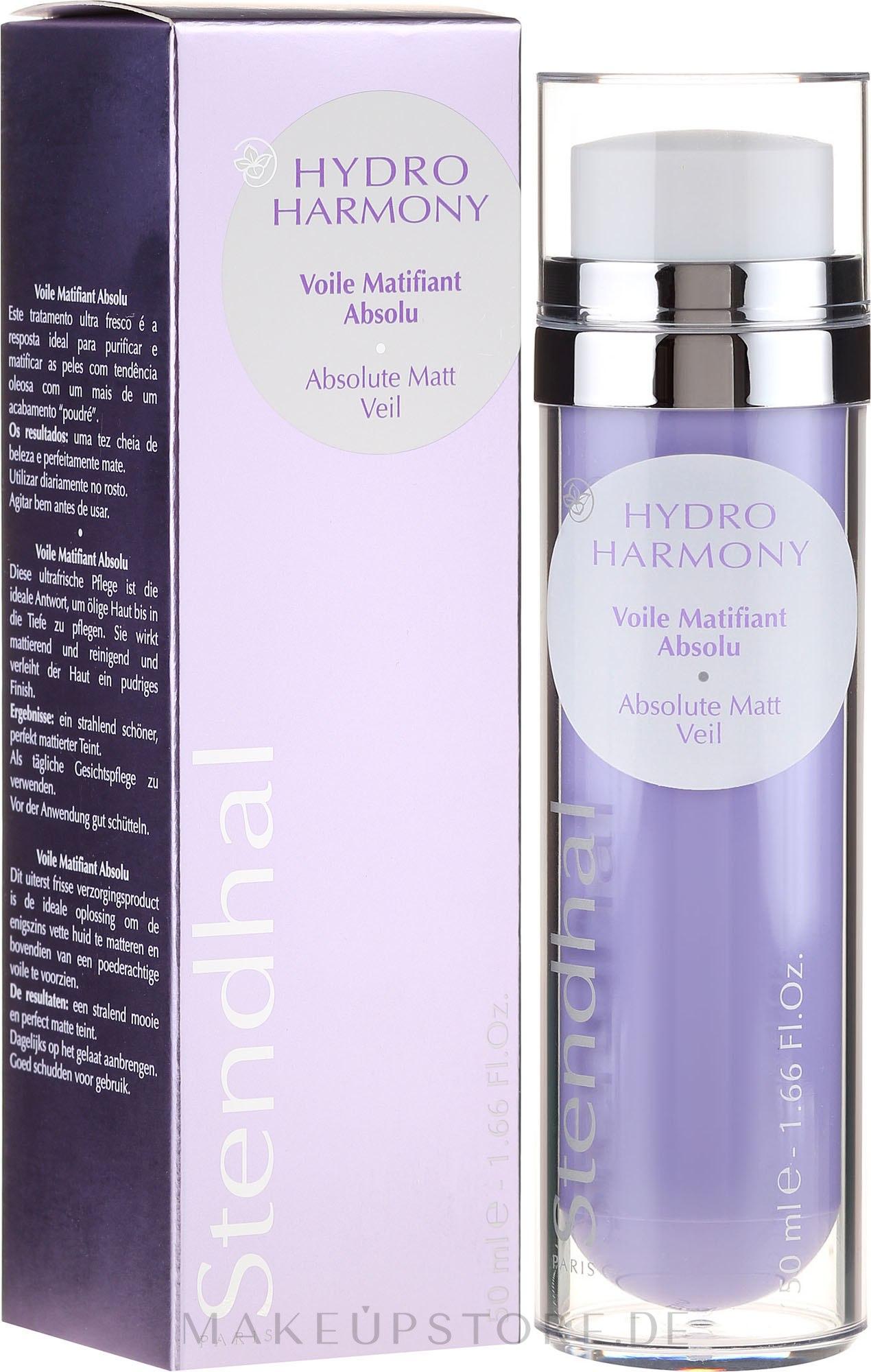 Mattierende Gesichtscreme - Stendhal Hydro Harmony Voile Matifiant Absolu — Bild 50 ml