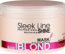 Düfte, Parfümerie und Kosmetik Maske für rosa Farbtöne für blondes, aufgehelltes und graues Haar - Stapiz Sleek Line Blush Blond Mask