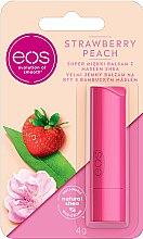 Düfte, Parfümerie und Kosmetik Lippenbalsam mit Erdbeer- und und Pfirsichgeschmack - EOS Strawberry Peach Lip Balm