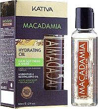 Düfte, Parfümerie und Kosmetik Feuchtigkeitsspendendes und revitalisierendes Haaröl mit Macadamia - Kativa Macadamia Hydrating Oil