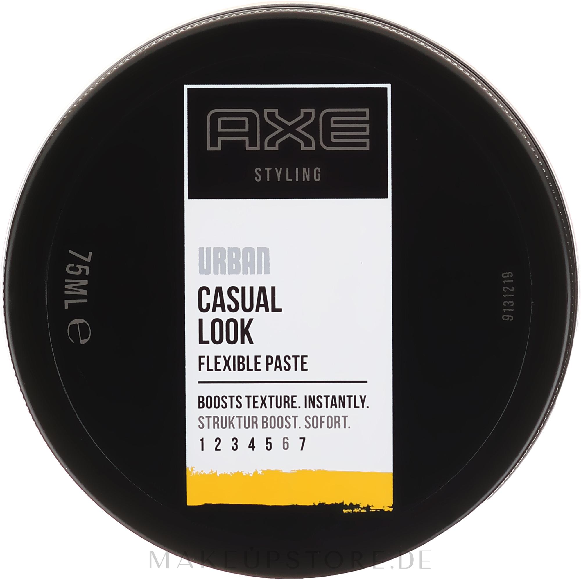 Haarstylingpaste Mittlerer Halt - Axe Urban Casual Look Flexible Paste — Bild 75 ml