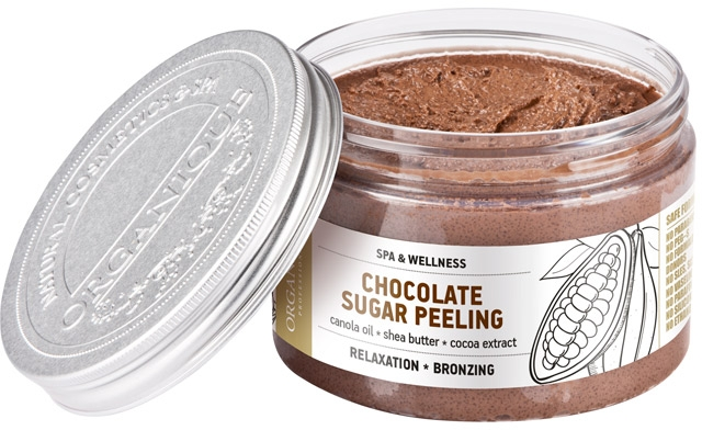 Entspannendes Schokolade-Zuckerpeeling für den Körper - Organique Professional Spa Therapie Chocolate Sugar Peeling — Bild N2