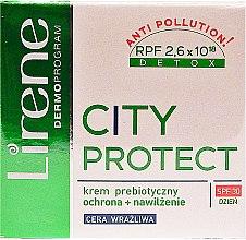 Düfte, Parfümerie und Kosmetik Prebiotische schützende und feuchtigkeitsspendende Tagescreme für empfindliche Haut - Lirene City Protect Cream