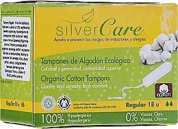 Düfte, Parfümerie und Kosmetik Tampons aus Bio-Baumwolle Regular 18 St. - Masmi Silver Care