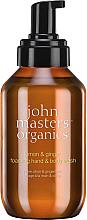 Düfte, Parfümerie und Kosmetik Hand- und Körperseife Zitrone und Ingwer - John Masters Organics Lemon & Ginger Foaming Hand & Body Wash