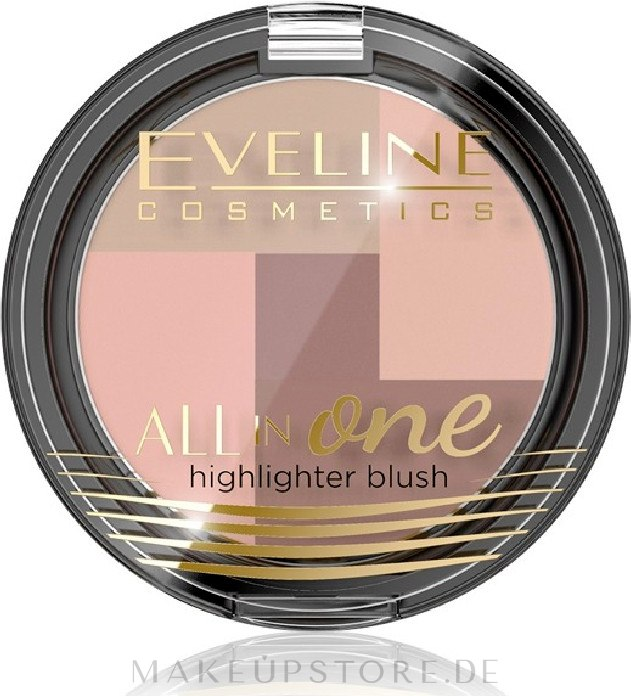 Gesichtsrouge - Eveline Cosmetics All In One Highlighter Blush — Bild 01 - Ivory