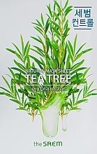 Düfte, Parfümerie und Kosmetik Natürliche Tuchmaske für das Gesicht mit Teebaumextrakt - The Saem Natural Tea Tree Mask Sheet