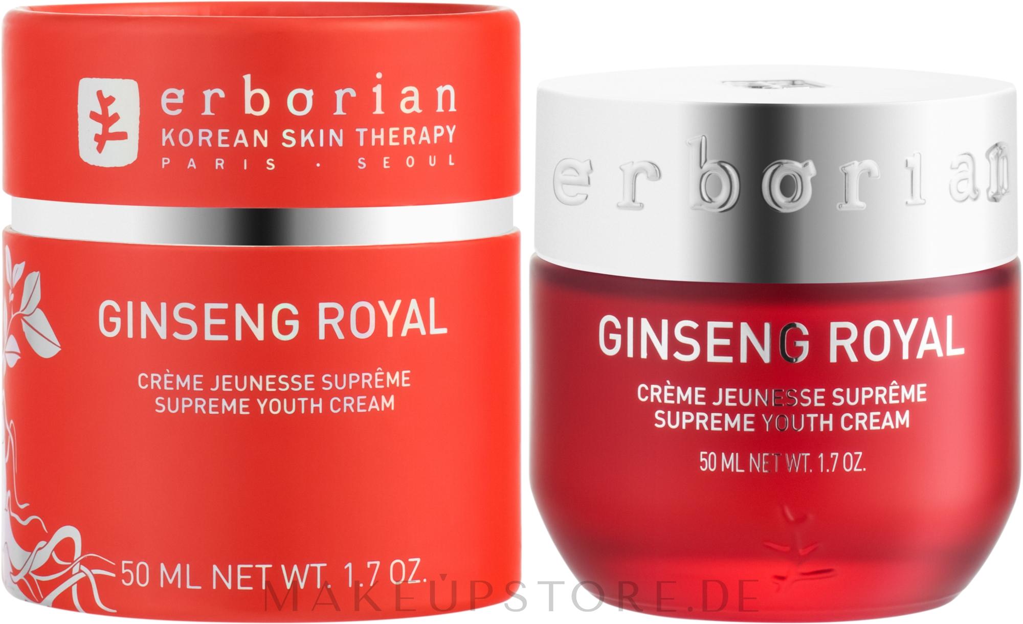 Anti-Aging Gesichtspflege mit Ginsengextrakt - Erborian Ginseng Royal Cream — Bild 50 ml
