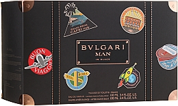 Düfte, Parfümerie und Kosmetik Bvlgari Man In Black - Duftset (Eau de Parfum 100ml + After Shave Balsam 100ml + Kosmetiktasche)