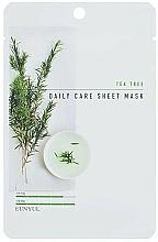 Düfte, Parfümerie und Kosmetik Tuchmaske für das Gesicht mit Teebaum - Eunyul Daily Care Mask Sheet Tea Tree