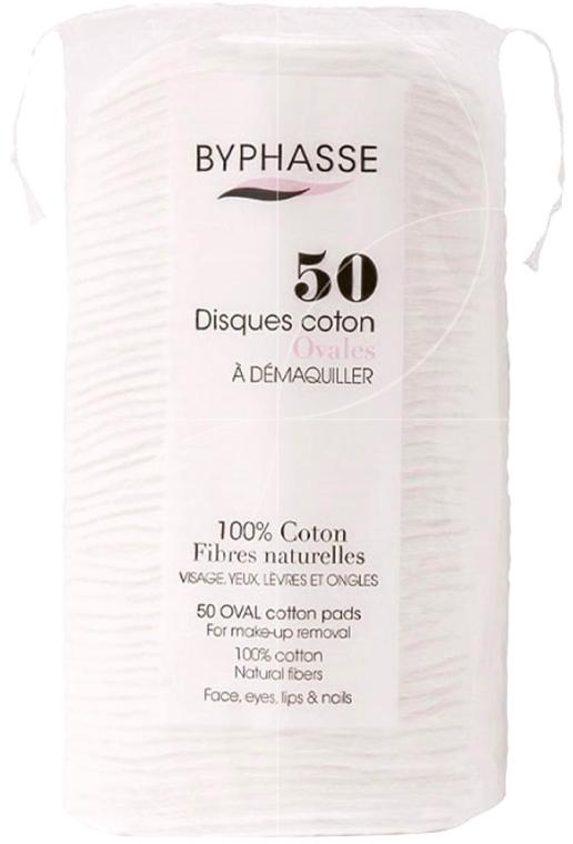 Wattepads zum Abschminken 50 St. - Byphasse Cotton — Bild N1