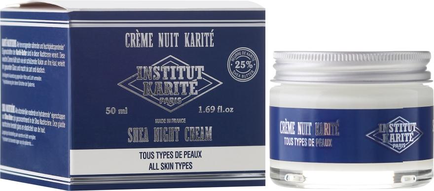 Pflegende und feuchtigkeitsspendende Nachtcreme mit Sheabutter - Institut Karite Shea Night Cream — Bild N1