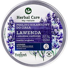Lavendel Körperpeeling mit Vanillemilch - Farmona Herbal Care Lavender with Vanilla Milk — Bild N1