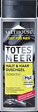Düfte, Parfümerie und Kosmetik Duschgel mit Salz aus dem Toten Meer für Männer - Salthouse Just for Men Totes Meer Haut & Haar Duschgel