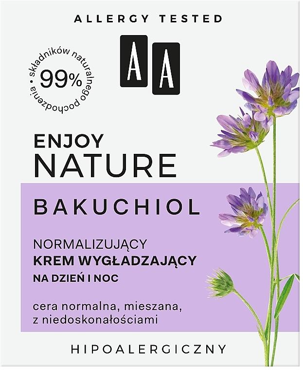 Normalisierende und glättende Gesichtscreme - AA Enjoy Nature Bakuchiol Normalising Smoothing Day&Night Cream — Bild N3