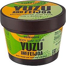 Düfte, Parfümerie und Kosmetik Peelingseife für den Körper mit Yuzu und Feijoa - Cafe Mimi Body Soap Scrub Yuzu And Feijoa